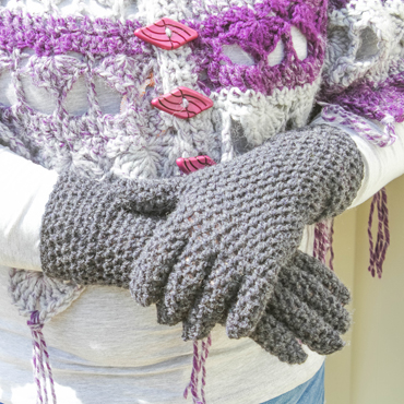 EasyFit Fingered Gloves Crochet Pattern
