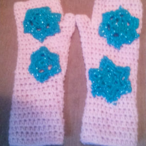 EasyFit Mitts with snowflakes