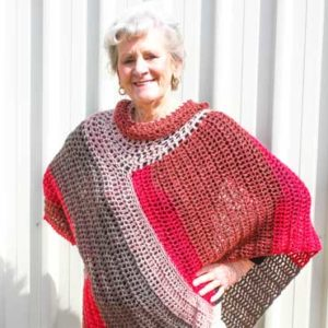 Wear a Blanket Poncho Crochet Pattern
