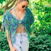 Sexy Crochet Wrap with button