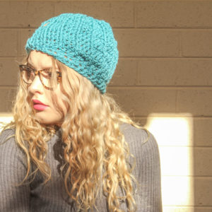 Comfort and texture in a crocheted beanie