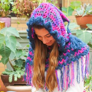 Fringed Hood Crochet Pattern