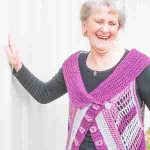 Orchid Vest Crochet Pattern Long