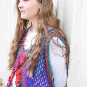 Orchid Vest Crochet Pattern Short