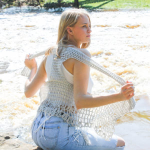 Relaxed Lacy Vest Crochet Pattern