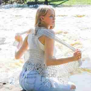 Relaxed Lacy Vest Crochet Pattern