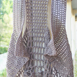 Relaxed Lacy Vest - Brown