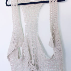 Relaxed Lacy Vest - Cream