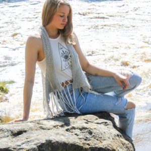 Relaxed Lacy Vest - front