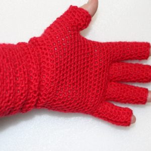 EasyFit FingerTip Gloves Crochet Pattern - palm side