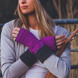 Be Smart Mitts Crochet Pattern