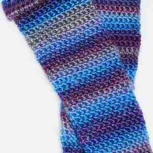 Blue Comfy Cuff Socks flat pair