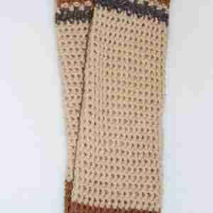 Brown Comfy Cuff Socks flat pair