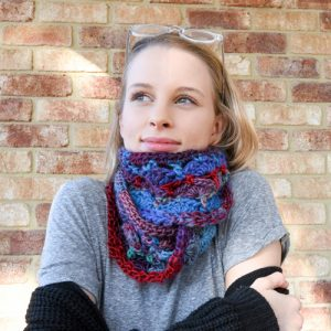 Multi-colored Fanfare Delight Cowl