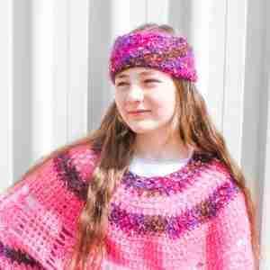 Pink Mohair Market Headband