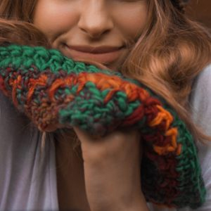 Funhouse Cowl - a funky neckwarmer - up close
