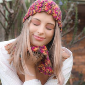 Popcorn Cozy Set of Crochet Patterns - Beanie and Cowl