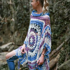 Desert Dreams Poncho Crochet Pattern