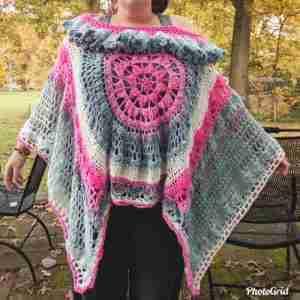 Desert Dreams Poncho Crochet Pattern - Brandi's version