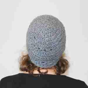 Re-V Beanie Crochet Pattern - from the back