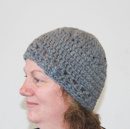Re-V Beanie Crochet Pattern - from the side