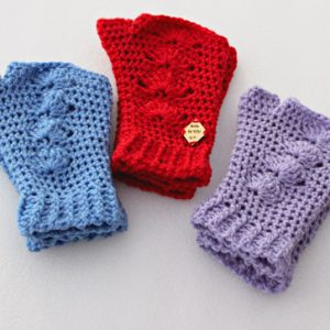 Shells Mitts Crochet Pattern- in 3 colors