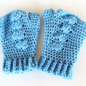 Sky Blue Shell Mitts - Flat