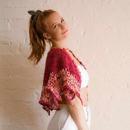 Art Gallery Shawl by ReVe Design Co - Model Photo 4