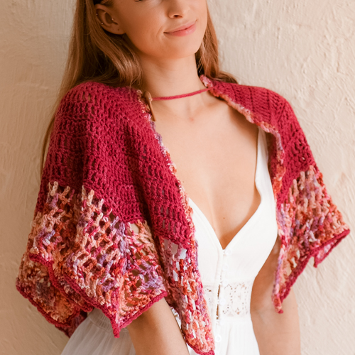 Art Gallery Shawl by ReVe Design Co - Model Photo 9