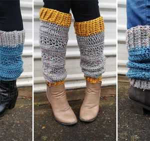 Heartland Bootcuffs - 3 photo collage showing various colours and wearing options