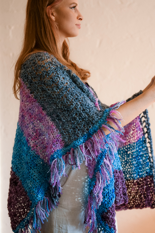 Raindrops Poncho by ReVe Design Co - Model Photo - close-up from side