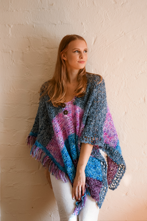 Raindrops Poncho by ReVe Design Co - Model Photo - styled from front